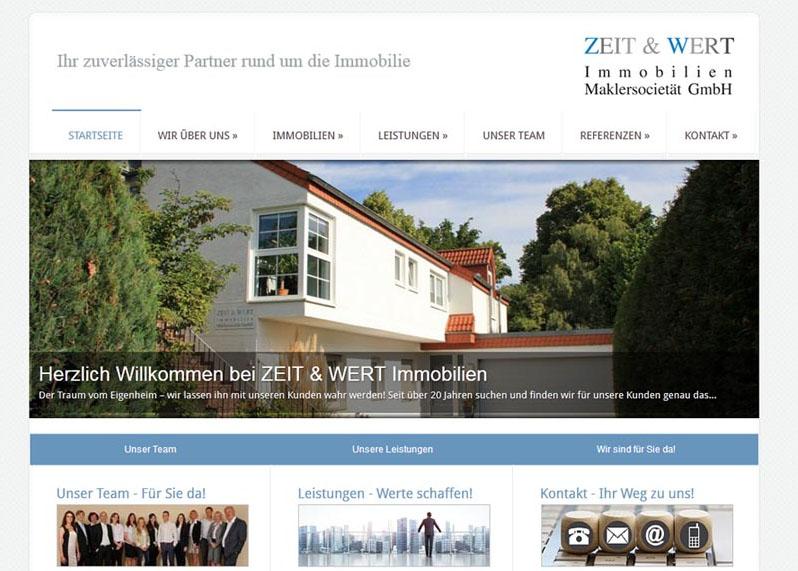 Neue Website online – ZEIT & WERT Immobilien GmbH